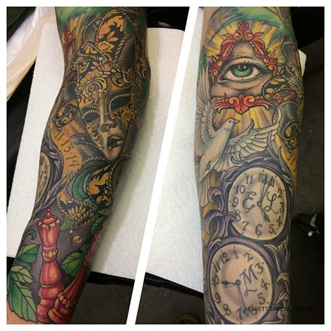 illuminati sleeve tattoo designs illuminati mask sleeve jerrett spaeth