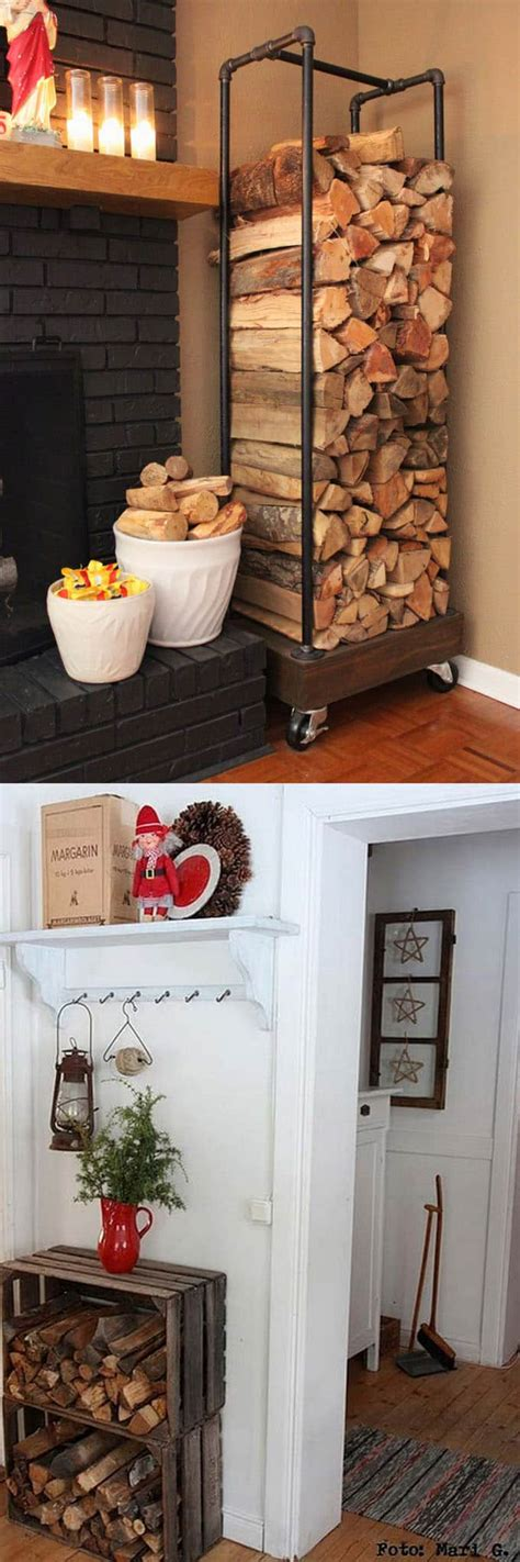 diy firewood rack pipe 15 creative firewood rack and storage ideas page 2 of 2 a of rainbow