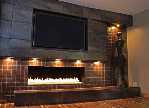 modern fireplace renovation porcelain tiles of differing sizes supplied by ames of