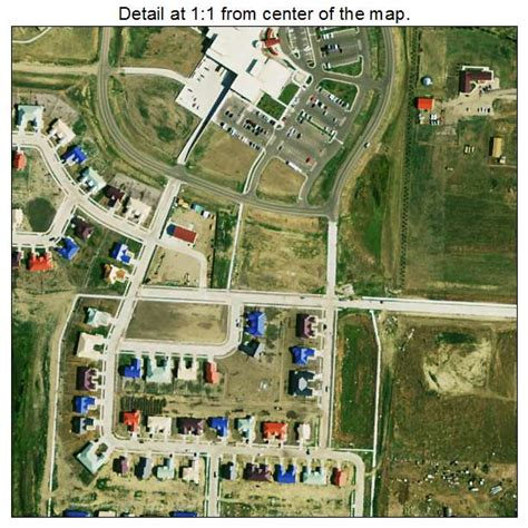 Aerial Photography Map of Eagle Butte, SD South Dakota