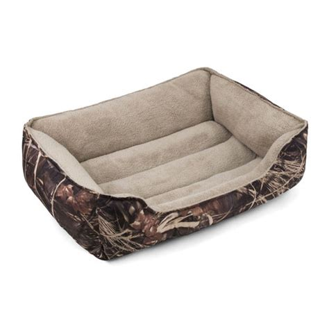 walmart pet beds soft spot bolster pet bed camo 36 quot x 27 quot walmart com