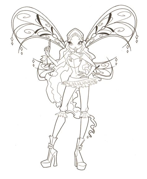 Winx Club Coloring Pages Winxclub Photo 18537836 Fanpop Winx Club Coloring Page