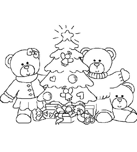christmas bear coloring pages coloringpages1001 com