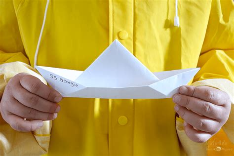 how to make a paper boat it how to make georgie s paper boat from it michelle s