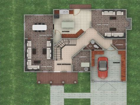 american house designs and floor plans modern house plan
