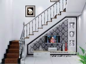 villa interior design for tv wall staircase
