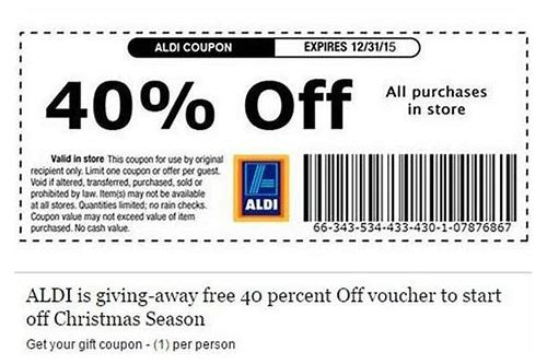 coupons aldi uk
