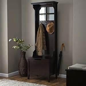 entryway bench with hooks amazon com espresso entryway mini hall tree with mirror