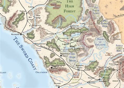 forgotten realms map nentir vale in the forgotten realms hunyock s rpg maps in the o jays and