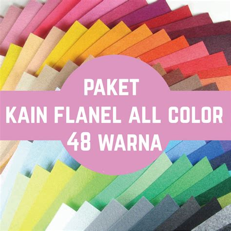jual paket kain flanel all color