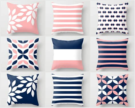 Pink Pillows Etsy by Pink Navy Pillow Pillow Covers Cushion Covers Throw Pillow
