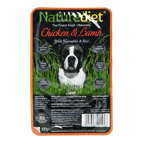 chicken and rice for dogs naturediet food chicken and with vegetables and rice tray 390g at wilko