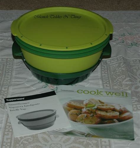 Tupperware Steam It Green tupperware smart steamer microwave green ebay