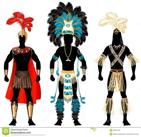 imagenes de trajes aztecas para hombres male carnival costumes stock vector illustration of