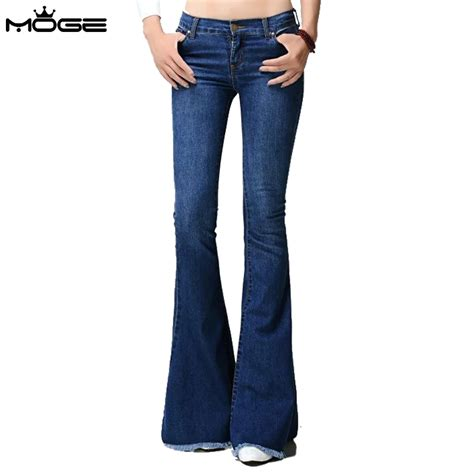 2016 bootcut jeans in or out moge 2016 women bootcut jeans blue denim pant jean slim