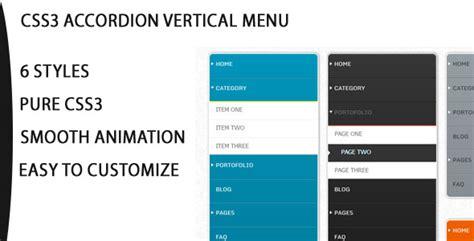 css creating vertical menu css3 vertical accordion navigation menu by wizard999