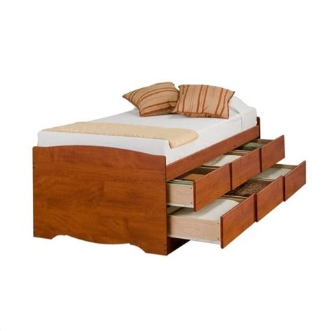 high platform bed twin tall bookcase high platform storage bed in cherry