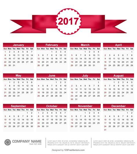 printable calendar vector printable 2017 calendar vector 123freevectors