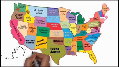 us map states song the 50 states and capitals song silly school songs