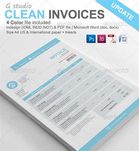 best invoice proposal templates indesign idesignow