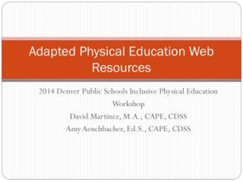 effective physical education content and with web resource an evidence based and tested approach books ppt adapted physical education powerpoint presentation