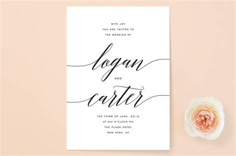 Wedding Invitation Wording For Third Marriage by Minted Wedding Invitation Someone Like You Wedding