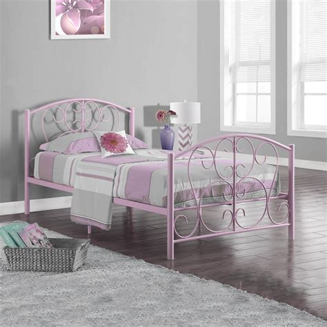 twin bed metal frame monarch specialties i 2390 metal twin bed frame lowe s canada