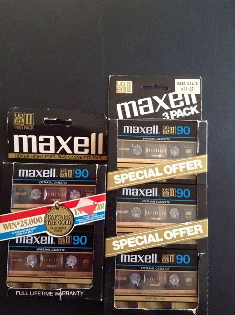 maxell audio cassette maxell ud xl ii 90 udxl ii 90 vintage blank media audio
