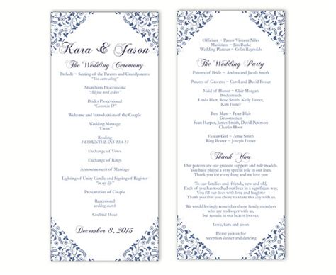 wedding program template wedding program template word cyberuse