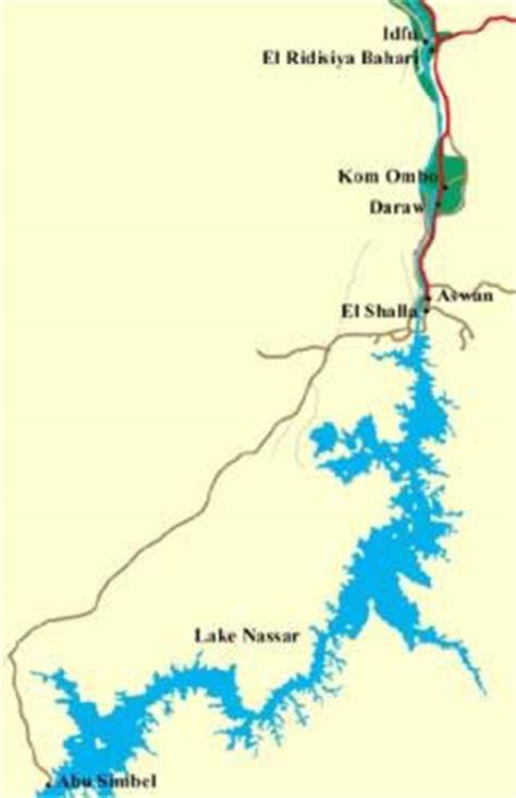 middle east map lake nasser the lost temples of nubia