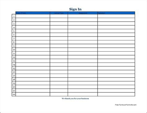 free volunteer sign in sheet template search results for customizable sign in sheet calendar