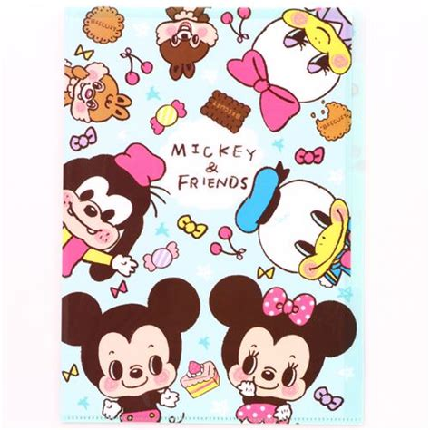Disney Baby Japan Skater Mickey Cutlery Bag turquoise mickey mouse and friends 5 pocket a4 file folder