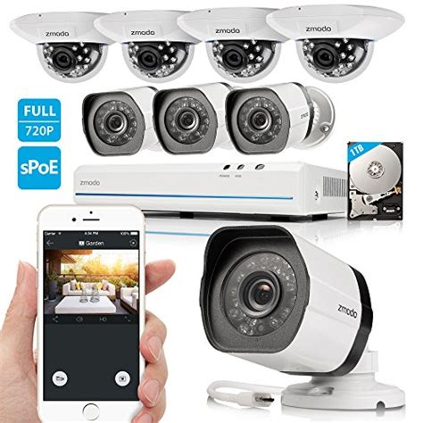 zmodo 8ch 720p hd network security system with 4x
