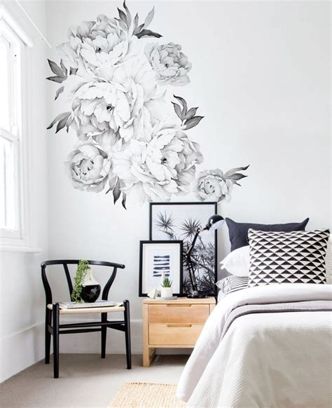 wall sticker peony flowers wall sticker watercolor peony wall stickers