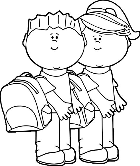 child color school kids coloring pages
