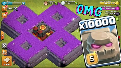 Golem Clash Of Clans 10000 golem attack in clash of clans omg heaviest attack