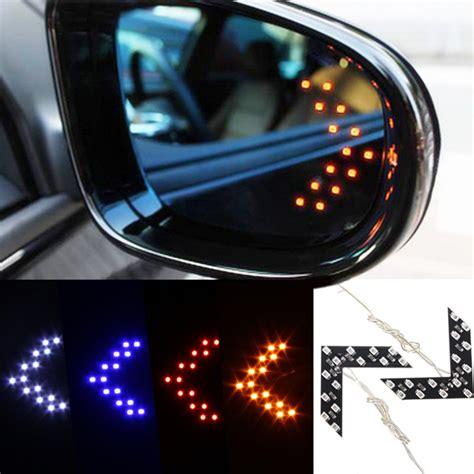 Turn Signal Led Mirror Blue Vision Freed 2x 14 smd led arrow panel car side mirror turn signal