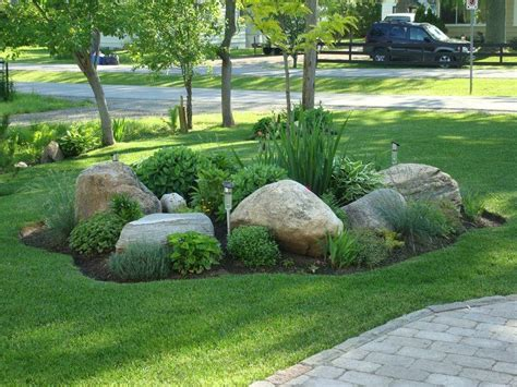 Large Garden Rocks Easy Ideas For Landscaping With Rocks