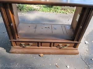 repurposed tv console my repurposed life