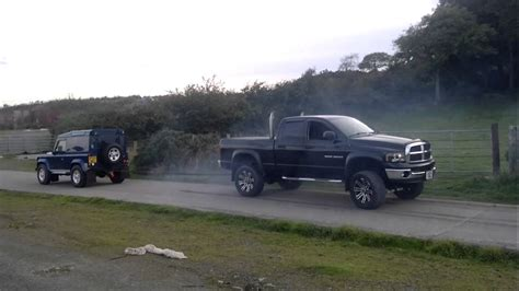 Dodge Ram Cummins Vs Landrover Defender 90