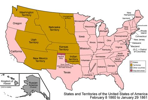 map of us states in 1860 063 states and territories of the united states of america