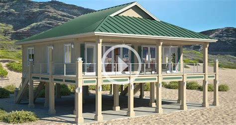 Clearview 1600P ? 1600 sq ft on piers : Beach House Plans by Beach Cat Homes