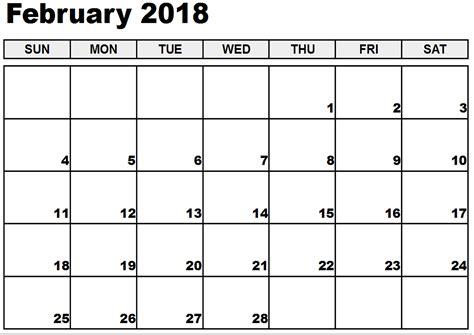 Calendar 2018 February In February 2018 Printable Calendar Printable Calendar