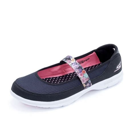 Sepatu Skechers Goga Mat skechers go step floral shoe with goga mat technology page 1 qvc uk