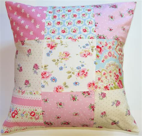 Handmade In Uk - patchwork cushion handmade in the uk cath kidston fabric