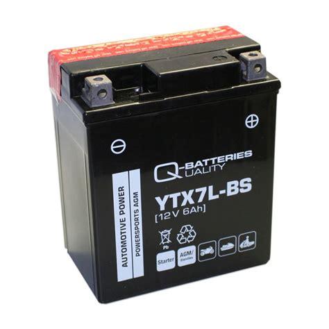 Motorradbatterie 12v 6ah by Q Batteries Motorrad Batterie Ytx7l Bs Agm 12v 6ah 110a