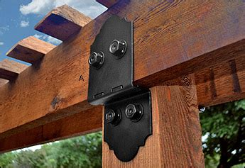 black pergola hardware ozco post to beam brackets valley tools