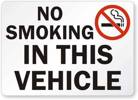 no smoking sign for car no smoking stickers no smoking labels