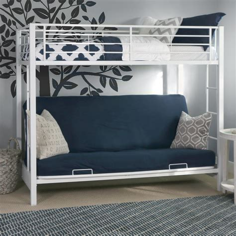 white bunk bed with futon com walker edison twin over futon metal bunk bed