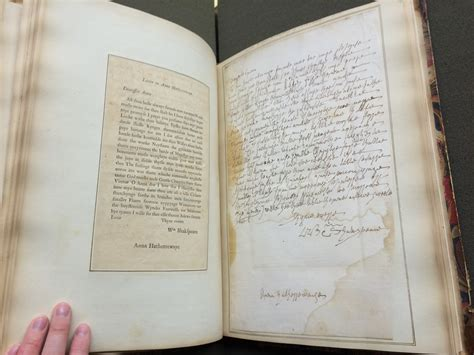 Letter Variants Textual Variants In Shakespeare S Letter To Hathaway The Collation